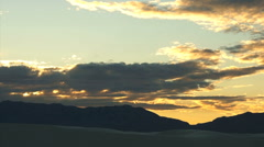 110414 sunset white sands Stock Footage