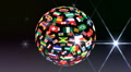 World Flags 3BTbb HD Footage