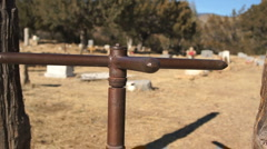 110415 turnstile in cemetary Stock Footage
