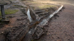 Obsolete thermal water in antique territory near Florence Stock Footage