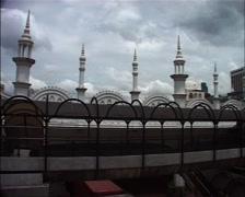 Pan across the Kuala Lumpur Railway Station_GFSD - stock footage