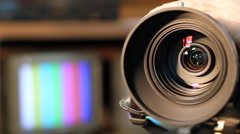 Zooming Video Camera Lens - stock footage