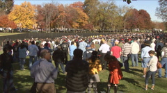 Vietnam Wall in DC Stock Footage