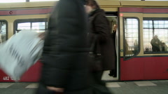 door close and train leave - stock footage