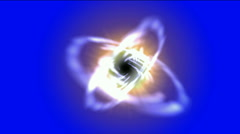 Swirl curve light around black hole,tech energy laser field in Universe space, Stock Footage