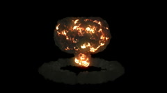 Explosion with mushroom cloud and slow motion plus Alpha Stock Footage