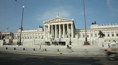 0030 Austrian Parliament Exterior - stock footage