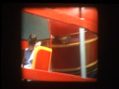 1960s carnival ride tilt-a-whirl Stock Footage