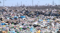 Garbage dump Stock Footage