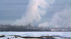 Pulp and paper mill Stock Footage