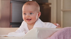 Baby smiling Stock Footage