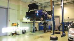 Car repair shop timelapse Stock Footage