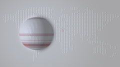 Spinning Globe Animation - stock footage