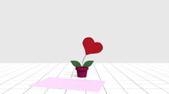 Animation of a concept of the valentine'days Stock Footage