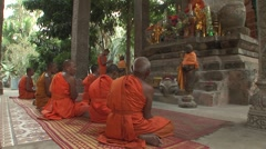 Angkor Buddhist monks Stock Footage