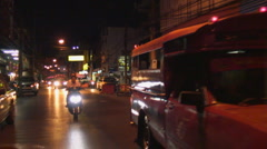 Thailand: Chaing Mai night streets Stock Footage