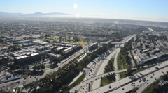aerial san diego i-805 at 163 - stock footage