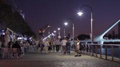 Night Promenade Stock Footage