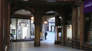 Stock Video Footage of Pan up from entrance of Victorian elegance of Central Arcade, built in 1902