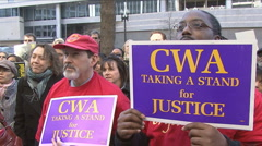 Communication Workers of America union Stock Footage