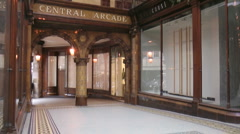 Victorian elegance of Central Arcade, built in 1902 Stock Footage