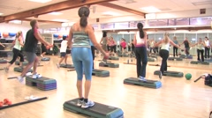 Women in Exercise Class Stock Footage