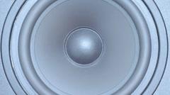 Black loud speaker Stock Footage
