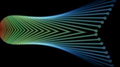 Metal fiber optic probe,steel fiber arrow,industry Machinery.particle,material, Stock Footage