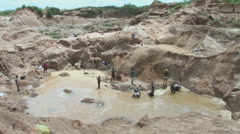 Diamond fields Sierra Leone Stock Footage