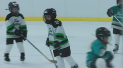 Children Play Minor League Ice Hockey Game Hockey Stock Footage