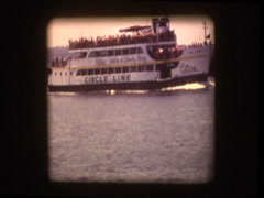 New York Circle Line ferry 1970 Stock Footage