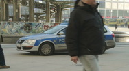 Police car driving Stock Footage