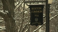 Stock Video Footage of Boston Common Sign