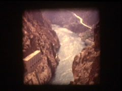 View from top of Hoover Damn - stock footage