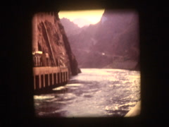 Colorado River Hoover Damn Stock Footage