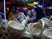 Stock Video Footage of Night Market in Kuala Lumpur GFSD