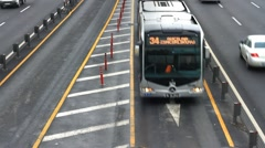 Metrobus lane Stock Footage
