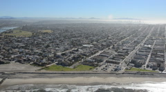 aerial san diego beach businesses zoom - stock footage