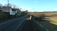 Stock Video Footage of Roman Road near Heddon on the Wall, ploughed fields and grassy farm land