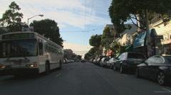 Haight Ashbury driving San Francisco 03 Stock Footage
