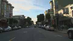 Haight Ashbury driving San Francisco 04 Stock Footage