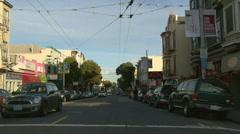 Haight Ashbury driving San Francisco 06 Stock Footage