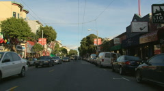 Haight Ashbury driving San Francisco 08 - stock footage