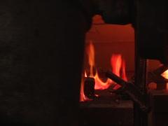 Sillhouette Man Walking Across Molds On Fire Stock Footage