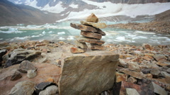 Rock Formation at Angel Glacier Stock Footage