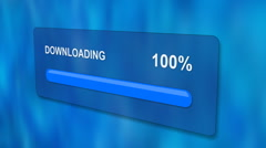 Downloading progress bar with luma matte Stock Footage