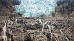 Waterfall from Angel Glacier Stock Footage