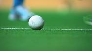 Hockey ball hit Stock Footage