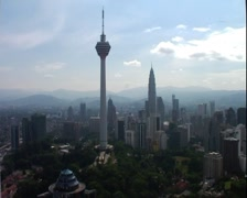 Awesome and rare view of Kuala Lumpur City Skyline GFSD Stock Footage