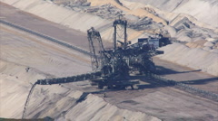 Tagebau Hambach: stacker in a lignite mine Stock Footage